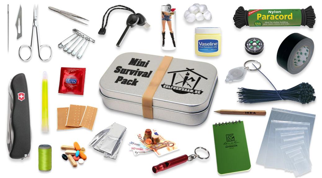 Wat zit er allemaal in een mini survival kit?
