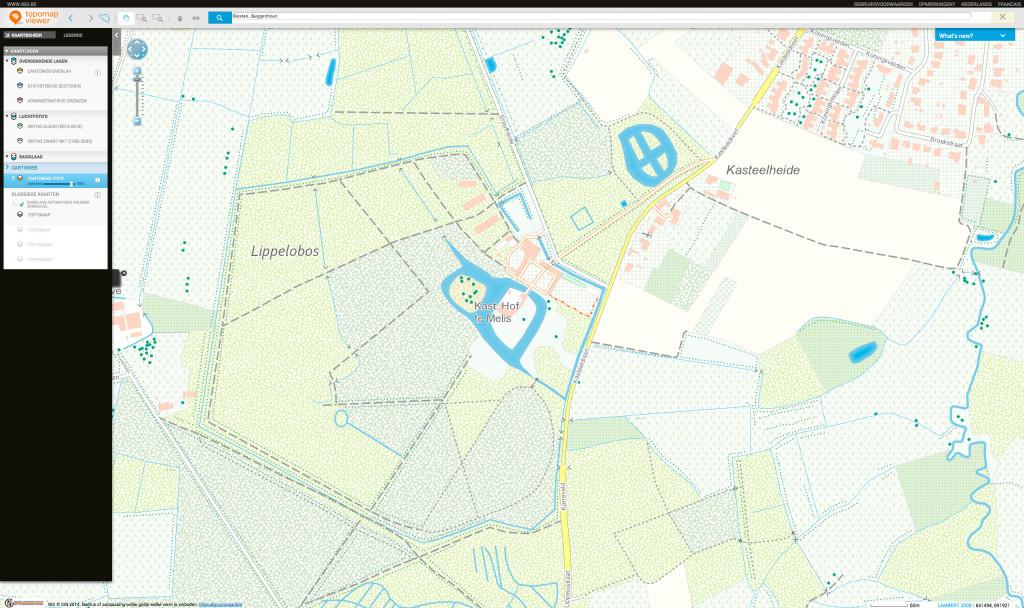 NGI Topmap Viewer: Buggenhout