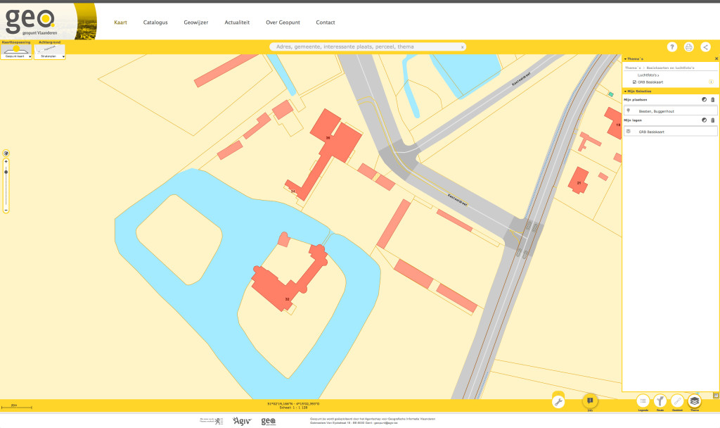 Geopunt Vlaanderen: GRB data Buggenhout