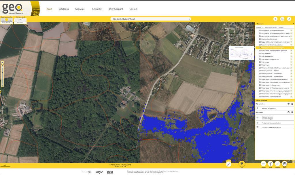 Geopunt Vlaanderen: overstromingsrisico
